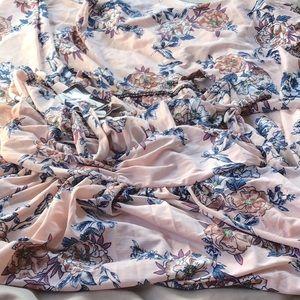Pleated maxi dress NWT! Size L/XL